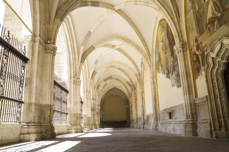 religion, Cloister of the Cathedral of Toledo in Spain photo