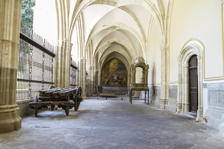 medieval, Cloister of the Cathedral of Toledo in Spain