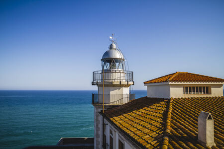navigation, Lighthouse penyscola views, beautiful city of Valencia in Spain photo