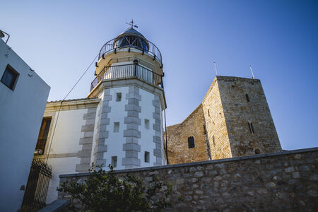 Lighthouse penyscola views, beautiful city of Valencia in Spain photo
