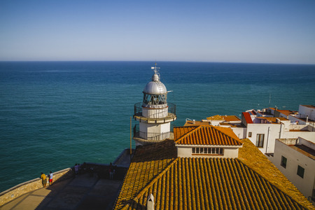 holiday, Lighthouse penyscola views, beautiful city of Valencia in Spain photo
