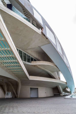 Palace music, modern museum architecture in the Spanish city of Valencia