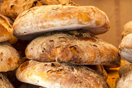 artisan bread in a medieval fair, spain photo