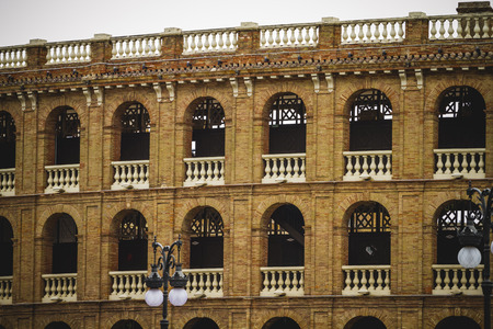 bullring, tipical architecture of the Spanish city of Valencia photo