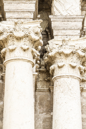 ornaments and sculptures of Gothic style, Spanish Ancient Art photo