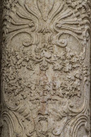 flourishes, ornaments and sculptures of Gothic style, Spanish Ancient Art photo