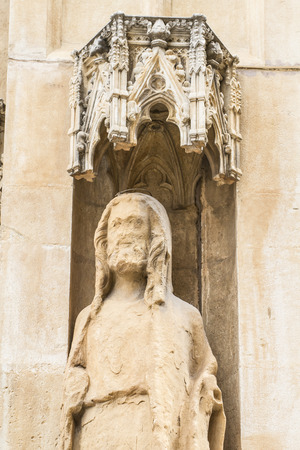 Apostles, ornaments and sculptures of Gothic style, Spanish Ancient Art photo