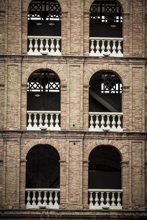 Valencia bullring, Spanish city of Valencia, Mediterranean architecture photo