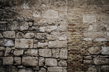 textured stone wall, Spanish city of Valencia, Mediterranean architecture photo