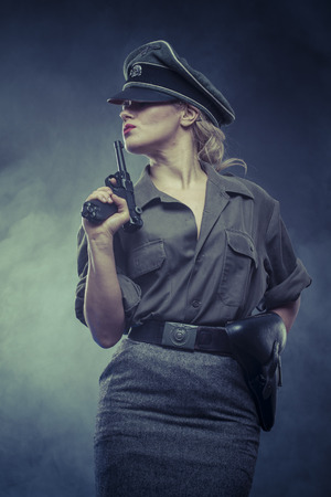 german soldier: weapon, Official German woman, representation of tyranny and oppression