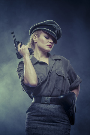 oppression: wwii, Official German woman, representation of tyranny and oppression