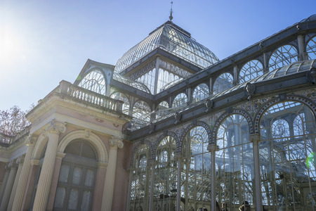 velazquez: Main gate, Crystal Palace in the Retiro park Madrid, Spain Editorial