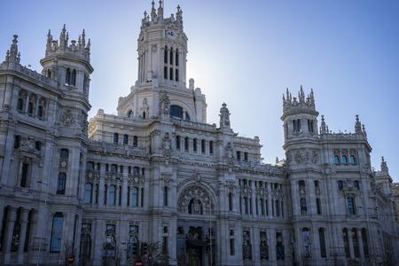 oficina antigua: Ayuntamiento de Madrid, Espa�a, antigua oficina de correos Foto de archivo