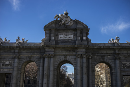 mythical alcala door in the capital of Spain, Madrid photo