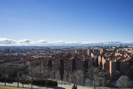 pio: Sunset, Madrid skyline, views from Tio Pio Park