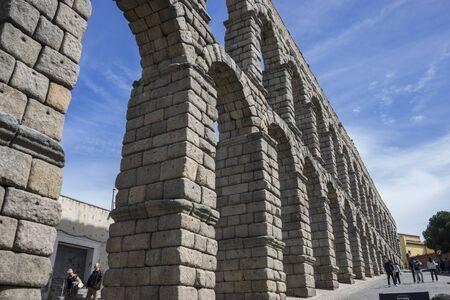 declared: Acquedotto romano di Segovia. monumento architettonico dichiarato patrimonio dell'umanit� e internazionale Archivio Fotografico