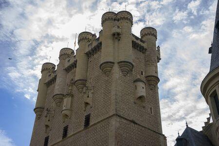 alcazar: alcazar castle city of Segovia, Spain. Old town of Roman origin Editorial