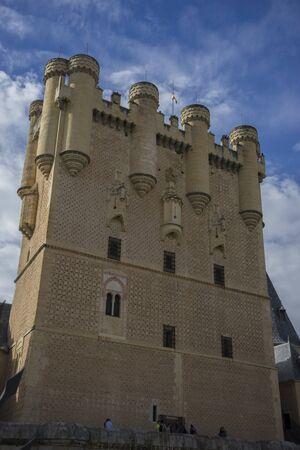 alcazar: Medieval, alcazar castle city of Segovia, Spain. Old town of Roman origin