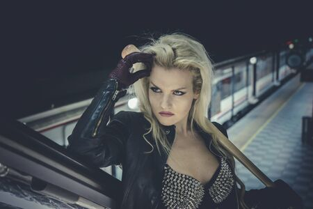 to rebel: Rebel, Beautiful and sexy blonde with a baseball bat