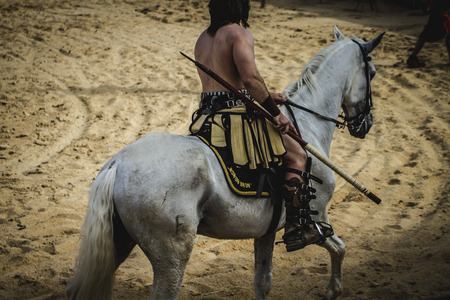 slaves: chariot race in a Roman circus, gladiators and slaves fighting