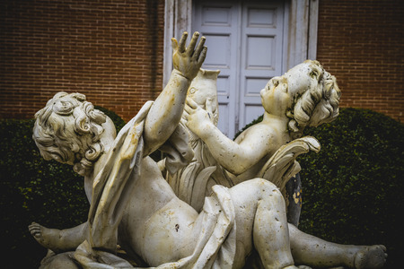 water sources: classical sources of water in the royal gardens of Aranjuez, Spain Editorial