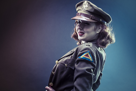 pinup girl in clothes era of World War II