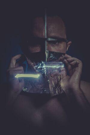 esquizofrenia: surrealismo, el concepto de trastorno mental, la esquizofrenia y la depresi�n Foto de archivo