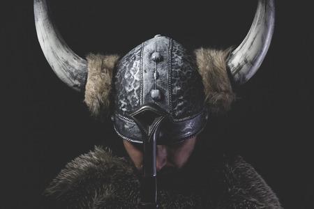 murderer: Murderer, Viking warrior with iron sword and helmet with horns