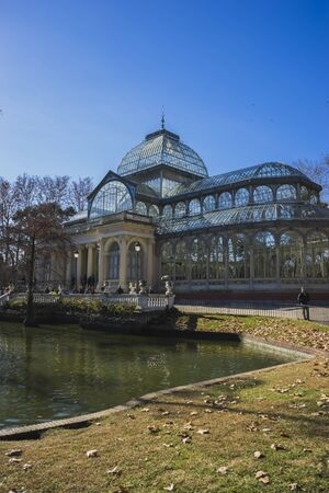 velazquez: Garden, Crystal Palace in the Retiro park Madrid, Spain Editorial