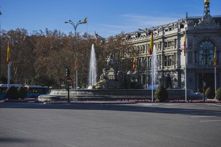 cibeles: mythical fountain of Cibeles, the capital of Spain madrid Editorial