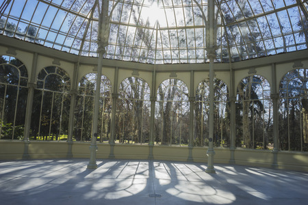 velazquez: Famous Crystal Palace in the Retiro park Madrid, Spain