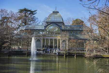 velazquez: Lake, Crystal Palace in the Retiro park Madrid, Spain