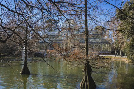 velazquez: Ancient, Crystal Palace in the Retiro park Madrid, Spain Editorial