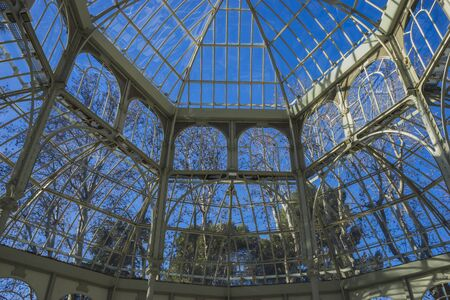 bosco: Crystal Palace in the Retiro park Madrid, Spain