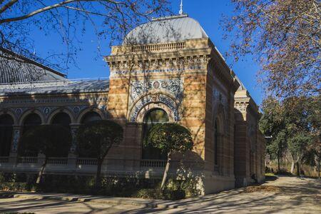 parque del buen retiro: velazquez palace in the Retiro park, Madrid Spain