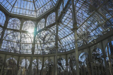 velazquez: Travel, Crystal Palace in the Retiro park Madrid, Spain Editorial