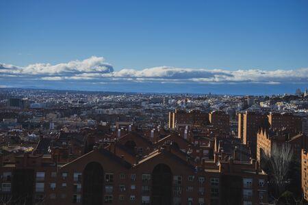 pio: Cityscape, Madrid skyline, views from Tio Pio Park