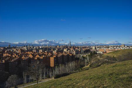 pio: Metropolis, Madrid skyline, views from Tio Pio Park