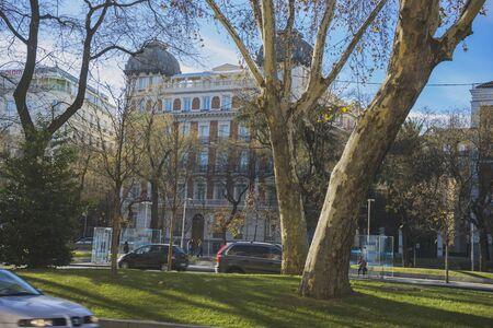 palacio de comunicaciones: facades of typical architecture of the capital of Spain, Madrid