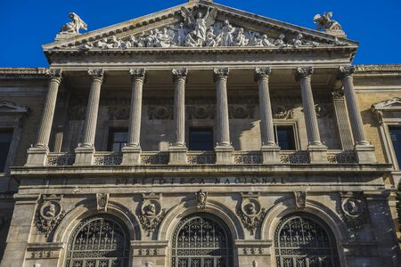 european culture: National Library of Madrid, Spain. architecture and art