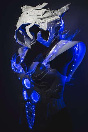 lightweight: Astronaut Blue LED lights armor made with plastics and lightweight materials.