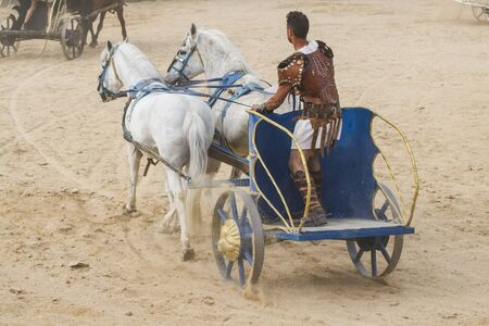 conquest: Conquest, Roman chariots in the circus arena, fighting warriors and horses