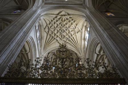 segovia: Interior of gothic cathedral of Segovia in Spain