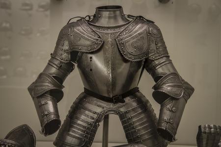 Mittelalterliche Eisen-Rüstung, spanische Armada Standard-Bild