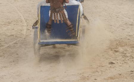 gladius: gladiator fights in the arena of the Roman circus, representation Stock Photo