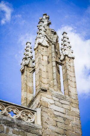 toledo: Toledo Cathedral facade, spanish church Stock Photo