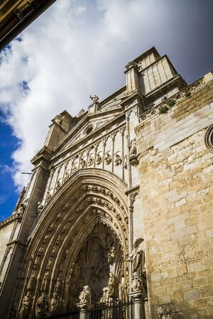 toledo town: Cathedral facace, Tourism, Toledo, most famous city in spain