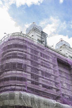 Cubierta De Restauración De La Fachada Del Edificio, Edificios ...