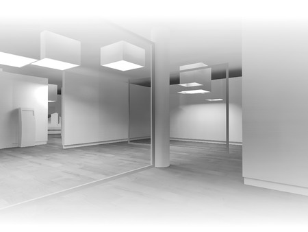 waiting room: Waiting room in a hospital or clinic with empty space Stock Photo