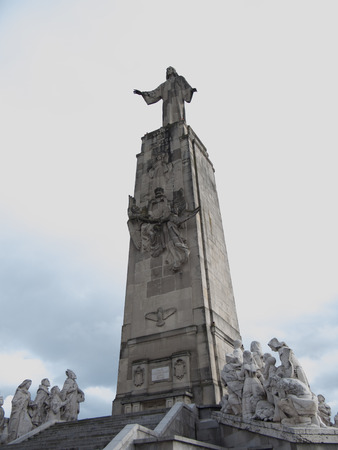 cerro: Cerro de los Angeles in Getafe, Madrid. monument inaugurated by King Alfonso XIII Stock Photo